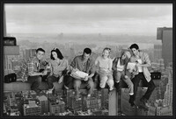 Friends - Lunch On A Skyscraper Målning på trä
