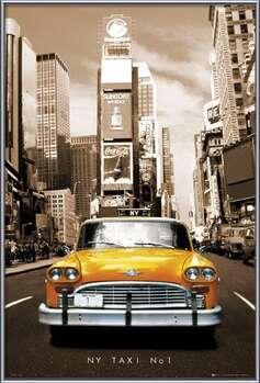 New York taxi no. 1 Målning på trä