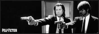Pulp Fiction - b&w guns Målning på trä
