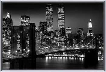 Manhattan - Night Inramad poster