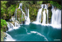 Waterfalls of Martin Brod on Una national park, Bosnia and Herzegovina Inramad poster