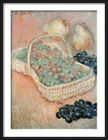 Claude Monet - The Basket of Grapes, 1884 Inramad poster