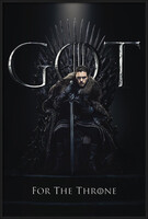 Game of Thrones - Jon For The Throne Inramad poster