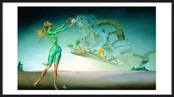 Salvador Dalí – Mirage Inramad poster