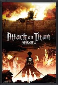 Inramad poster Attack on Titan (Shingeki no kyojin) - Key Art