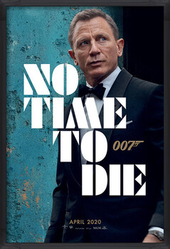 Inramad poster James Bond - No Time To Die - Azure Teaser