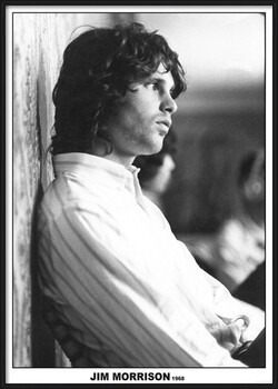 Inramad poster Jim Morrison - The Doors 1968
