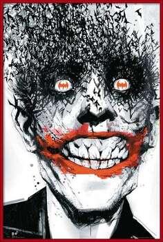 Inramad poster BATMAN Comic - Joker Bats
