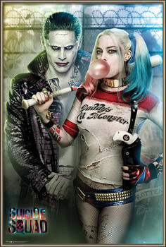 Inramad poster Suicide Squad - Joker and Harley Quinn