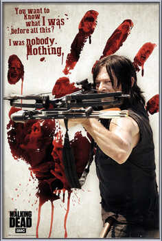 Inramad poster Walking Dead - Bloody Hand Daryl