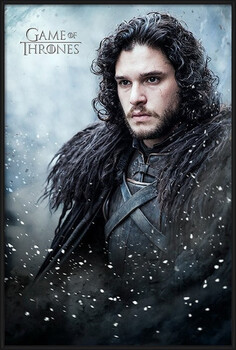 Inramad poster Game of Thrones - Jon Snow
