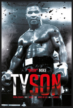Inramad poster Mike Tyson - Boxing Record
