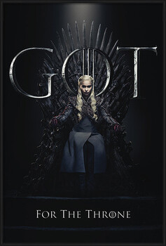 Inramad poster Game Of Thrones - Daenerys For The Throne