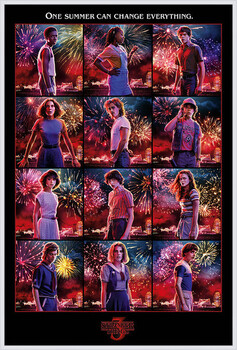 Inramad poster Stranger Things - Character Montage