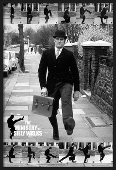 Inramad poster Monty Python - the ministry of silly walks