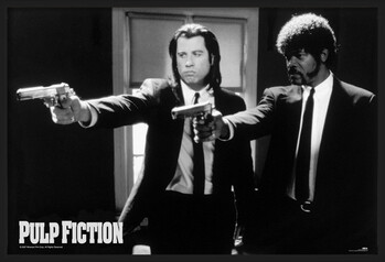 Inramad poster Pulp fiction - guns