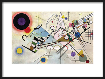 Inramad poster Wassily Kandinsky - Composition VIII