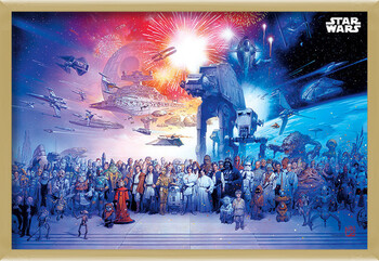 Inramad poster Star Wars - Universe