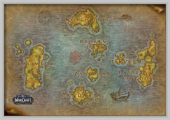 Inramad poster World Of Warcraft - Map