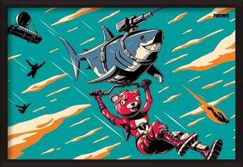 Inramad poster Fortnite - Laser Shark