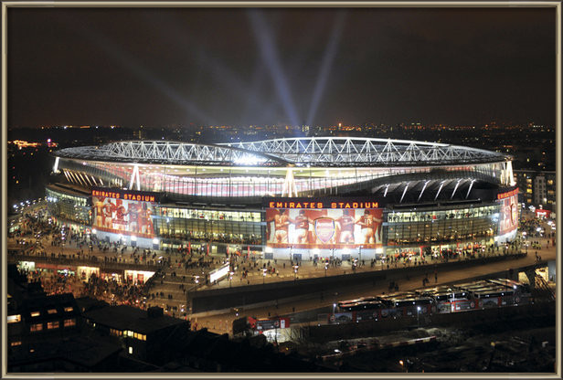 Poster  Arsenal - emirates stadium night