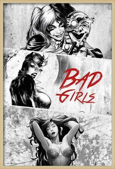 Poster  DC Comics - Badgirls (B&W)