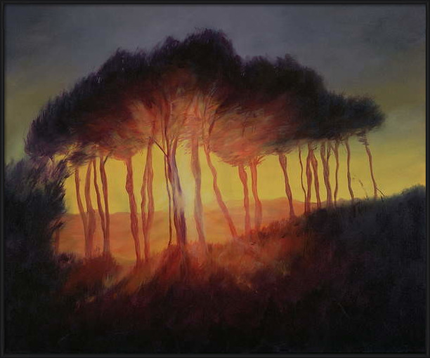 Konsttryck Wild Trees at Sunset, 2002