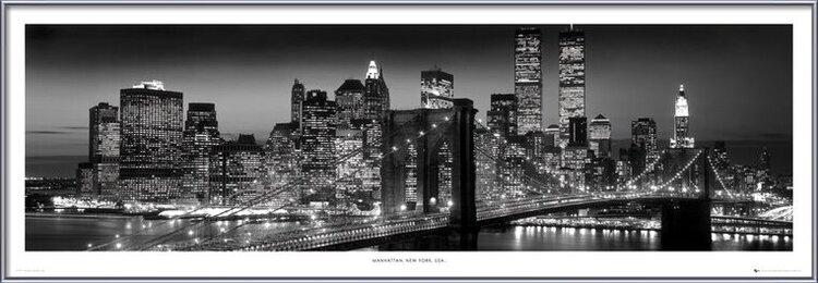 Poster  New York - Manhattan black