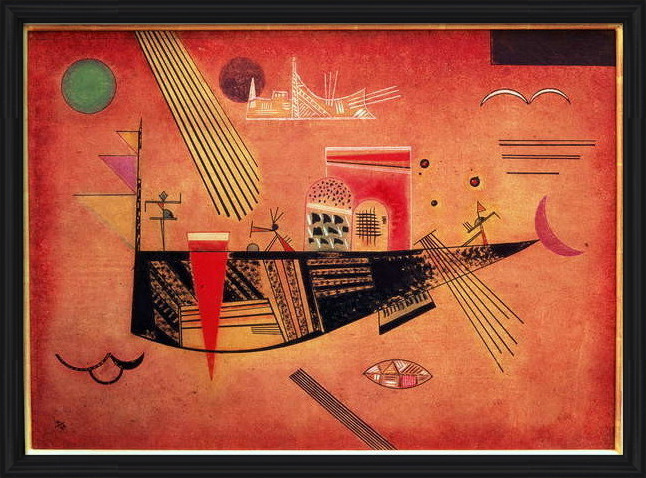Wassily Kandinsky - Whimsical Inramad poster