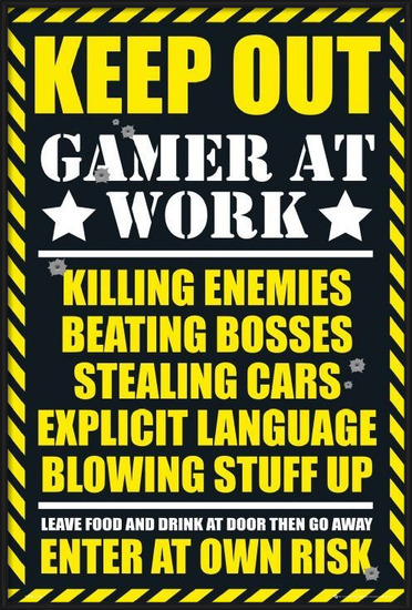 Poster Gaming - keep out