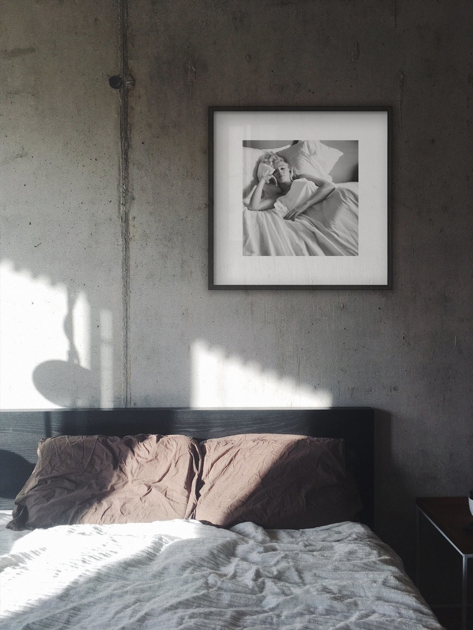 Konsttryck Marilyn Monroe - Bed