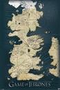Game of Thrones - Karta över Westeros